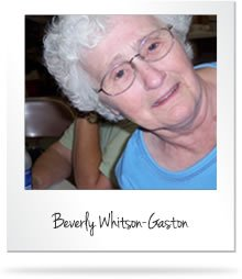 Beverly Whitson-Gaston with eyeglasses and wearing sky blue shirt.
